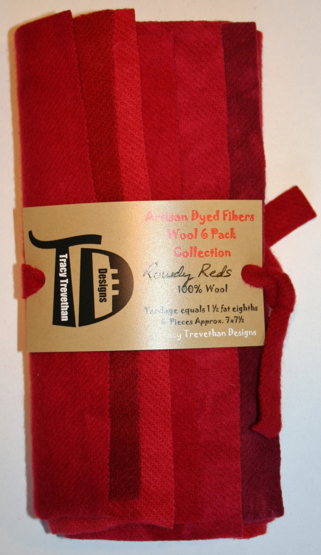 Rowdy Reds Hand Dyed Wool Six Pack Collection